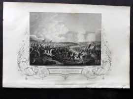 Tallis (Pub) 1854 Antique Print. Battle of Salamanca, Spain